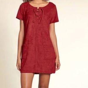 Hollister suede mini dress!